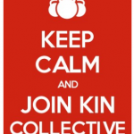 Keep Calm and Join Kin Collective [image of kettlebells]