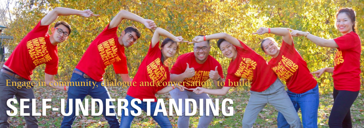 Engage in community, dialogue and conversation to build self-understanding