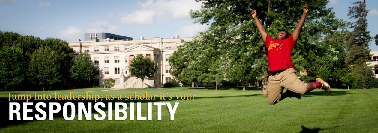 Jump into leadership; as a scholar, it's your responsibility