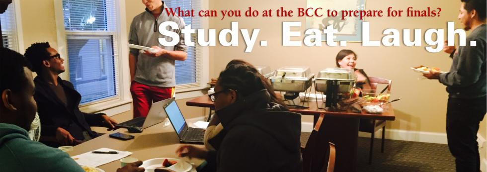 The Black Cultural Center is an excellent study spot all year long but sometimes you'll find food provided there during final exam preparation.