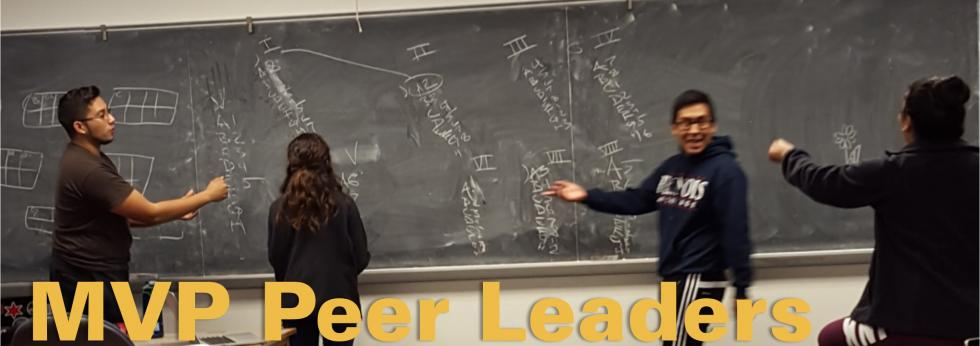 MVP Peer Leaders help guide the MVP program for new students. Learn about the opportunity to be a peer leader.